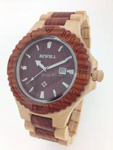 2014 nueva Ebay moda relojes hechos a mano reloj de madera ecológica moda reloj de madera de regalo de cumpleaños
