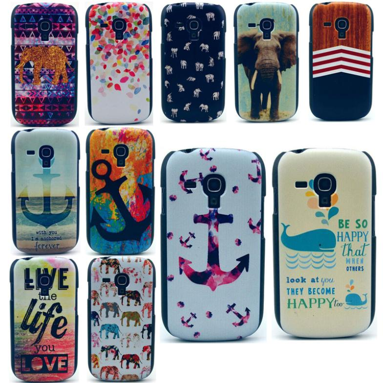 Colorful Cartoon Printed Quality Hard Back Case Cover Cell Phone Protector For Samsung Galaxy S3 Mini i8190 Retro Drop Shipping(China (Mainland))