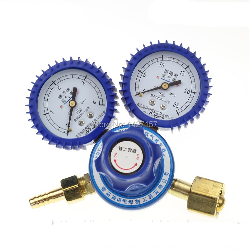 NEW 1pc Oxygen table Pressure reducer valve Oxygen gas pressure gauge for Torch(China (Mainland))