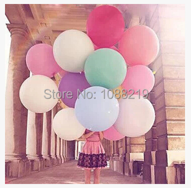 Free Shipping 10pcs/Lot 36 Inch Multicolor Wedding Party Supplies Valentines Day Decoration Birthday Party Decorations Kids(China (Mainland))