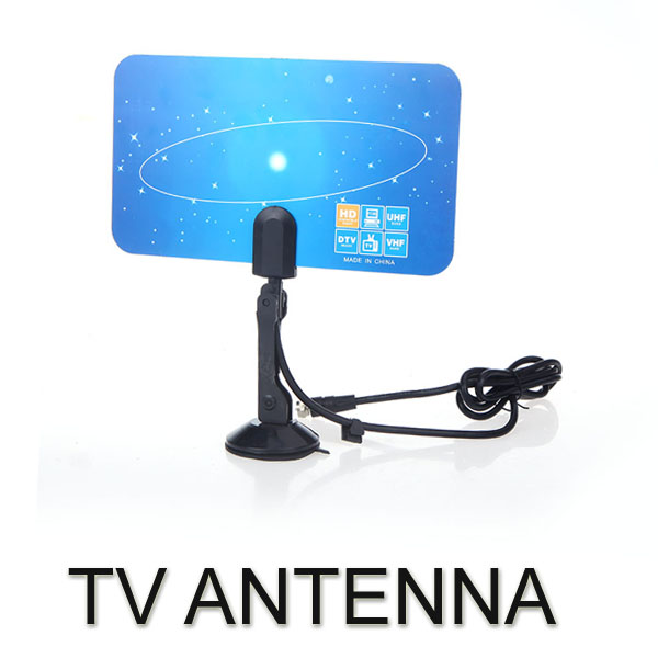 Digital Indoor TV Antenna HDTV DTV HD VHF UHF Flat Design High Gain US Plug(China (Mainland))