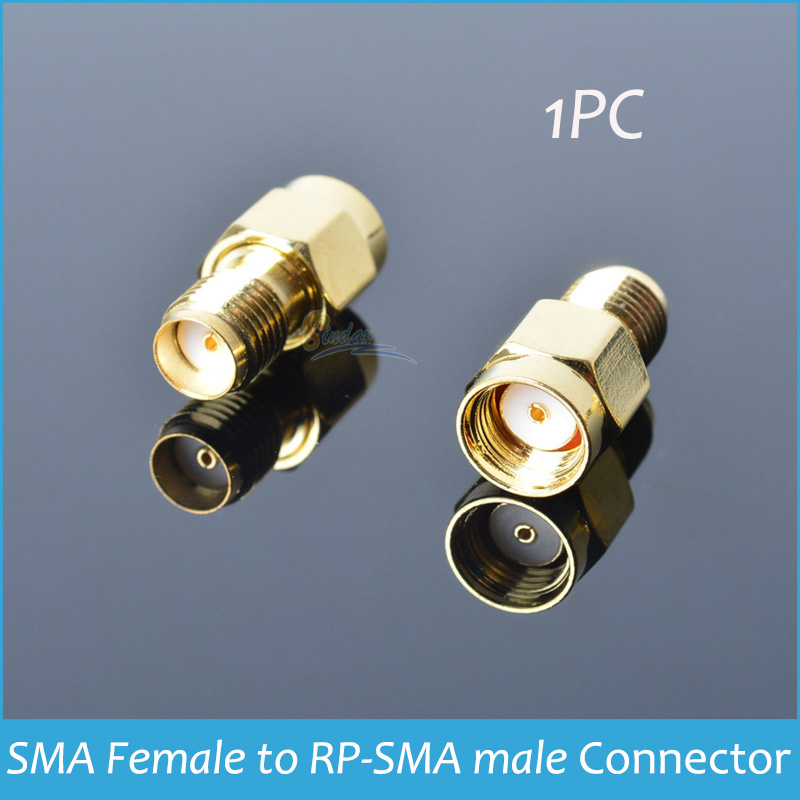 1PC Drop shipping Gold Plated RF Coxial Connectors RF SMA Connector Adapter SMA Female to RP-SMA male RF Connectors(China (Mainland))
