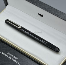 Limited edition series mon black resin Silver plated roller ball pen school office supplies magnetic closure clasp mb brand pens(China (Mainland))