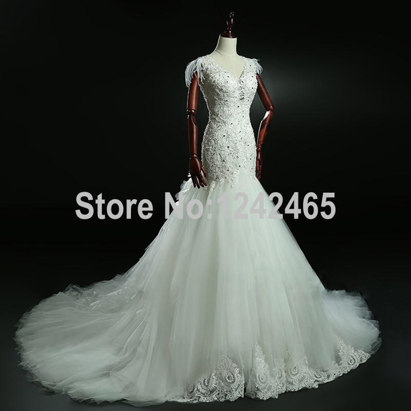 Wedding Dresses Real : Wedding dresses real photos tulle modest bridal gown