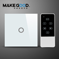 1 Gang EU Crystal Glass Touch Light Wall Switch Remote Control Compatiable With Broadlink RM Pro