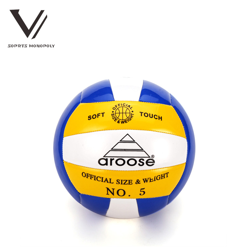 2016 Aroose New Official Size 5 PVC Foam Leather Volleyball Soft Beach Ball Indoor Outdoor Training Match Volleyball Bal 602(China (Mainland))