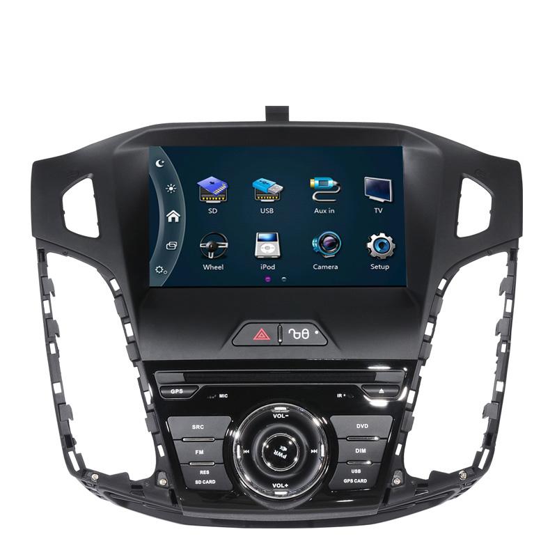 Free Shipping Car Radio for Ford Focus 2012 car dvd player with GPS navigation car Radio Bluetooth SD USB,Free 8GB map card(China (Mainland))