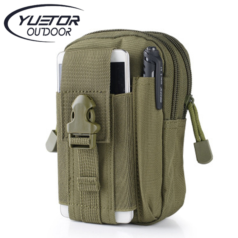 YUETOR Universal Outdoor Sport Tactical Bag Molle Waist Nags 5.5/6 Inches Waterproof Phone Cases 600D Oxford Tactical Pouch(China (Mainland))