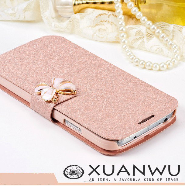Silk texture cell mobile phone bag Case For samsung galaxy s4 s3 s5 i9500 i9600 i9300 s6 s7 edge Cover Phone Leathe filp funda(China (Mainland))