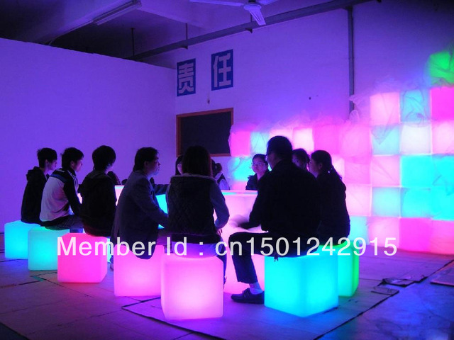Hot led furniture!Bar Furniture! LED cube Chair bar stool 40*40*40CM