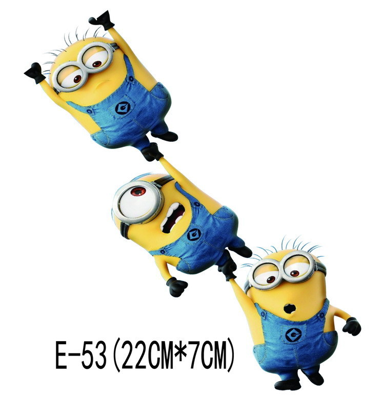 1 Pcs Despicable Me Minions Personality Cute Cartoon Glue Sticker Car Decal Covers Waterproof Reflective On