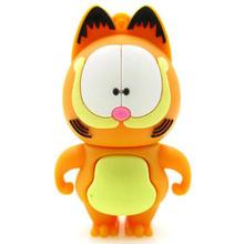 Full capacity cartoon Garfield usb flash drive pen drive 4gb 8gb 16gb 32gb pendrive Memory stick Card Creativo usb stick gift(China (Mainland))