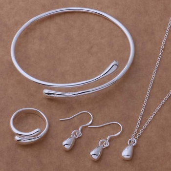 Free shipping silver plated Jewelry Sets Earring 177 + Necklace 681 + Ring 248 + Bangle 039 /ckvalcca bkpakbwa AS089