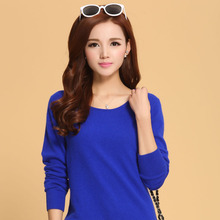 Spring 2015 New Lady sweater Rabbit Cashmere Round Collar Solid Color Sweater Pullovers 23 colours 5 size free hot sale(China (Mainland))