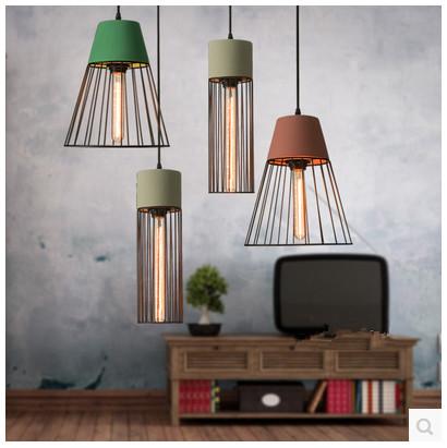 Cement chandelier designer style retro nostalgia industry chandelier bar chandelier restaurant creative personality<br><br>Aliexpress