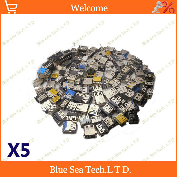 5 lots 100modles,total 500pcs PC Notebook Laptop USB Jack Socket 3.0 USB jack 2.0 USB kids For ACER/ASUS/HP/ Lenovo/Toshiba/Sony<br><br>Aliexpress