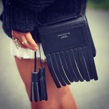 ACNE studios stylish women messenger bag fashioan shoulder bolsas femininas cow leather handbag black tassel genuine leather bag