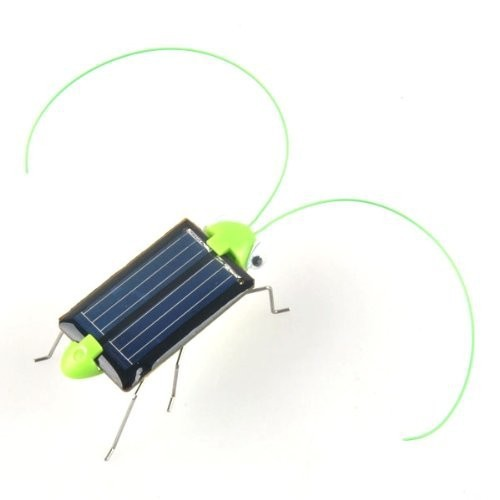 New Magic Mini Plastic Solar Energy Powered Grasshopper Toys Best Gift Electric Animal Toys For chidren Kids free shipping(China (Mainland))
