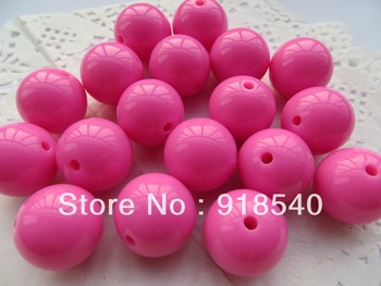 New Color Light Hotpink  20MM 105pcs Big Chunky Gumball Bubblegum Acrylic Solid Beads , Chunky Beads for Necklace Jewelry