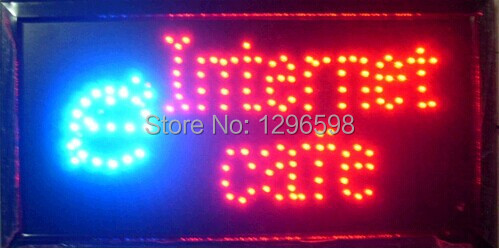 2015 hot sale 10x19 Inch Semi-outdoor INTERNET CAFE store Ultra Bright flashing led electric signs(China (Mainland))
