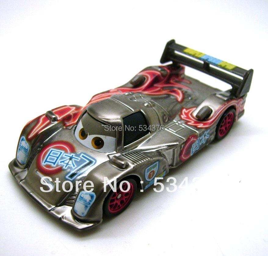 Pixar Cars 1/55 Diecast Vehicle Figure Toy Car Neon Metallic Finish Shu Todoroki Japanese Racer Loose(China (Mainland))