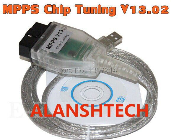 MPPS V13.02 SMPS CAN Flasher Chip Tuning ECU Remap OBD2 Professional Diagnostic Cable HK post mail free Shipping(China (Mainland))