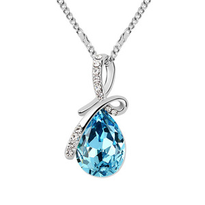 Elegant Costume jewelry for women classic retro water drop crystal pendant necklace made with Swarovski Elements top sale(China (Mainland))