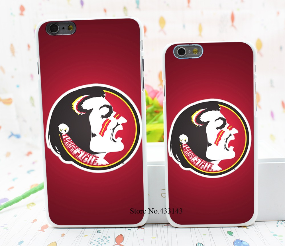florida state seminoles logo Style Hard White Cover Skin Back Case for iPhone 6 6s 6 plus(China (Mainland))