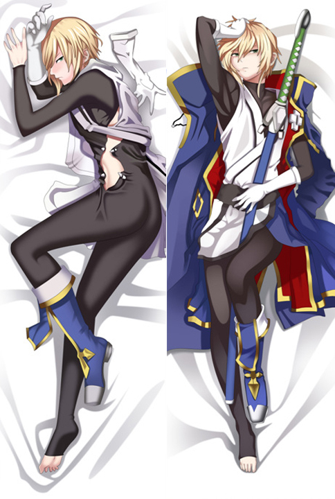 150cm Japanese GAME Anime BLAZBLUE Kisaragi Jin Male Hugging Body decorative Hugging Body Pillow Case Cushion Cover bedding