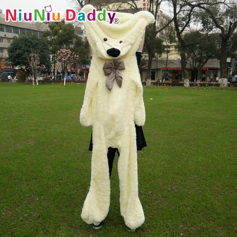 "Big Plush toys,Semi-finished bear, Plush Bear Skin,plush teddy bear skin,200cm/79"" inch,3 color can choose,Free Shipping(China (Mainland))"