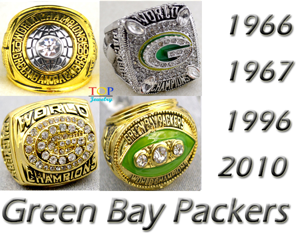 1966 1967 1996 2010 Green Bay Packers Super Bowl replic championship men rings US Size 11 with boxes on sale(China (Mainland))