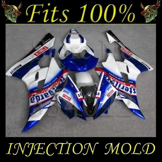 INJECTION MOLD Fairing YZFR6 2006 2007 VOLVO blue white 19# ABS Custom Body Kit Fairing for Yamaha YZF600 2006 2007 YZF-R6 06 07(China (Mainland))