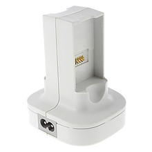 White EU Plug 2-Slot Quick NiMH Battery Charger Dock Charging Station Set for Xbox 360 Wireless Controller