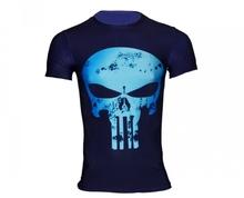 Mens Clothing Fitness t shirt 3D Superman/Captain America Short Sleeve tights T-Shirt Men Crossfit Compression(China (Mainland))