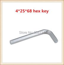 100 unids níquel acero al carbono 4mm * 68 tornillo llave allen