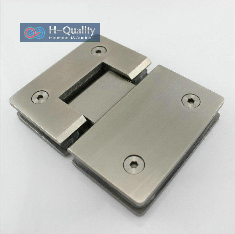 Thicken 180 Degrees Precision Cast Stainless Steel Glass Door Clamp Clip Shower Door Glass Clip Bracket(China (Mainland))