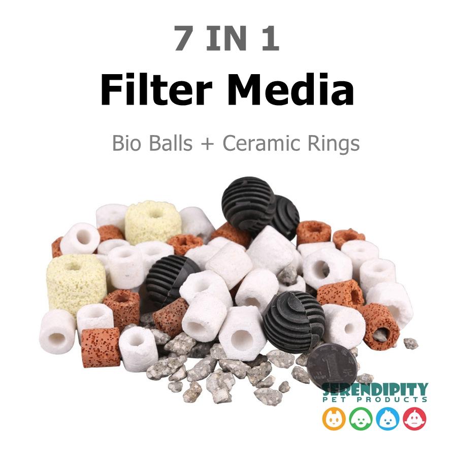 Bio Balls Biological Rings 500g Aquarium Pond Fish Tank Filter Ceramic Rings Filtration Media Bacteria Biocycle Material(China (Mainland))