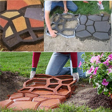 Wholesale 1Pcs DIY Plastic Path Maker Mold Manually Paving/Cement Brick Molds The Stone Road Auxiliary Tools For Garden Decor(China (Mainland))