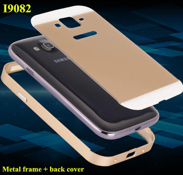 Luxury aluminum metal frame + acrylic smooth PC back cover case For Samsung Galaxy grand Duos i9082 NEO i9060 i9062 Phone cover(China (Mainland))