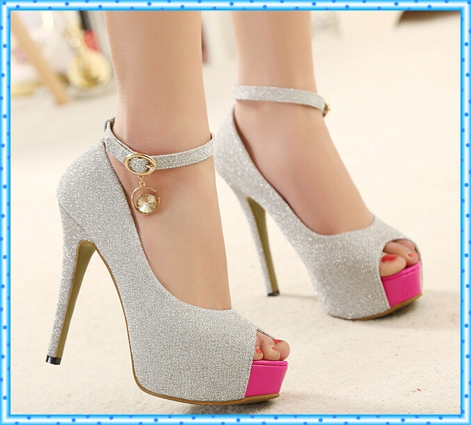 Wonderful Shoes Genuine Leather High Heel Formal Dress Women39s Shoes Party Shoes