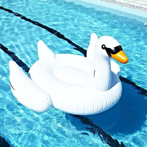 Giant Swan 60 inch 1.5m  Inflatable Ride-On Pool Toy  Float Swan Inflatable Swim Ring(China (Mainland))