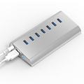 USB HUB 3 0 7Port with DC charger plug Switch Multiple USB Splitter aluminium USB HUB