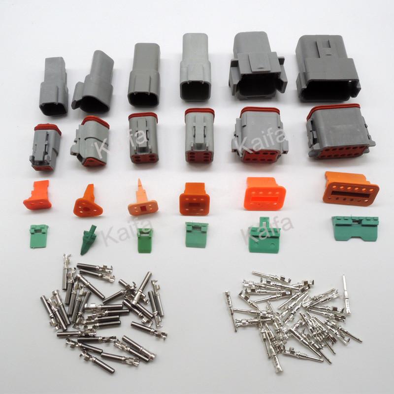 1 sets 6 models Deutsch DT06/DT04 2/3/4/6/8/12 Pin Engine/Gearbox waterproof electrical connector car,bus,motor,truck - Kaifa Co., Ltd. store