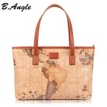 2016 Star war map message new fashion high quality woman handbag shoulder bag tote big world map bag in PVC(China (Mainland))