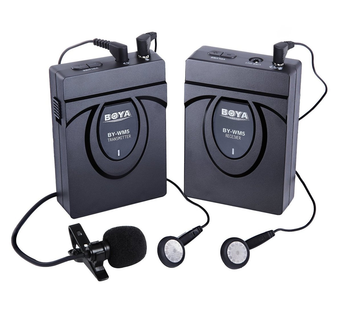 BOYA BY-WM5 DSLR Camera Wireless Lavalier Microphone Recorder System for Canon 6D 600D 5D2 5D3 Nikon D800 Sony DV Camcord<br>