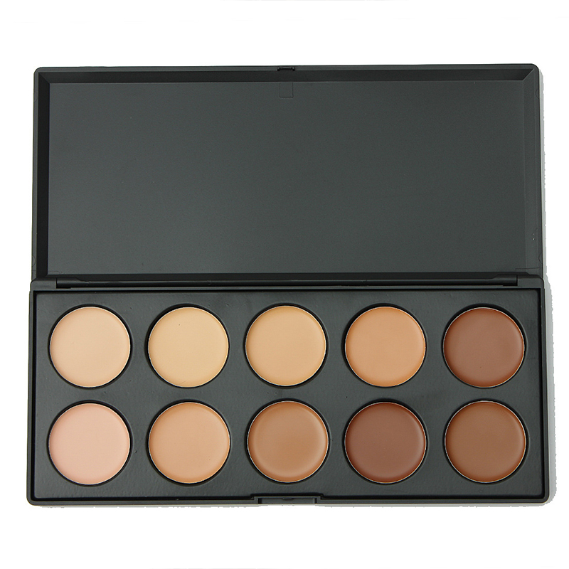 10 Color Professional Makeup Concealer Palette Make Up Cream Camouflage Brand Contouring Kit(China (Mainland))