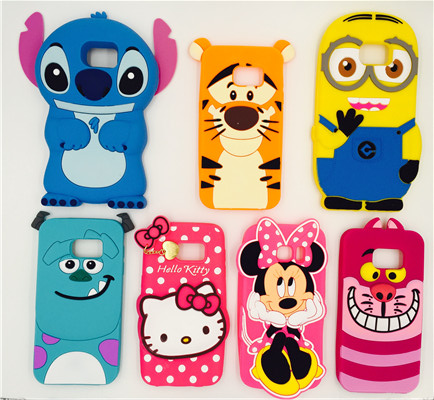 3D Cartoon Festival Gift Stitch Minnie Mouse Man Hello Kitty Sulley Soft Silicone Cover Case For Samsung Galaxy S7 Edge G9350(China (Mainland))