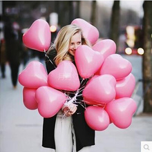 10pcs/lot Romantic 12 Inches 2.2g pink Heart Love Latex new year helium Balloons Wedding Party Valentines Day inflatable balls(China (Mainland))