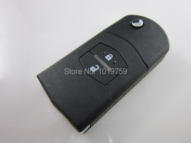 Free Shipping Flip Folding Key Shell for MAZDA 3 5 6 Flip Remote Key Case Replacement 2 Button(China (Mainland))