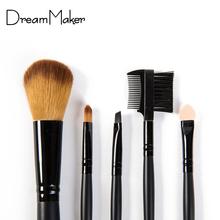 DreamMaker 5pcs Cosmetic professional makeup Brushes Set kit Make up Brushes Kits for Women foundation brush